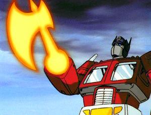 Transformers Dark of the Moon Optimus Prime axe