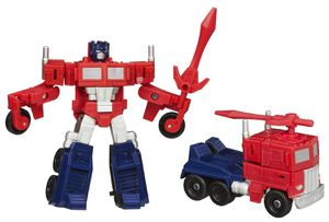 Transformers G1 Optimus prime brand new Red Black Clear White