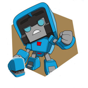 Transformers Botbots Series 1 The Lost Bots STINKEYE STAPLETON blue stapler