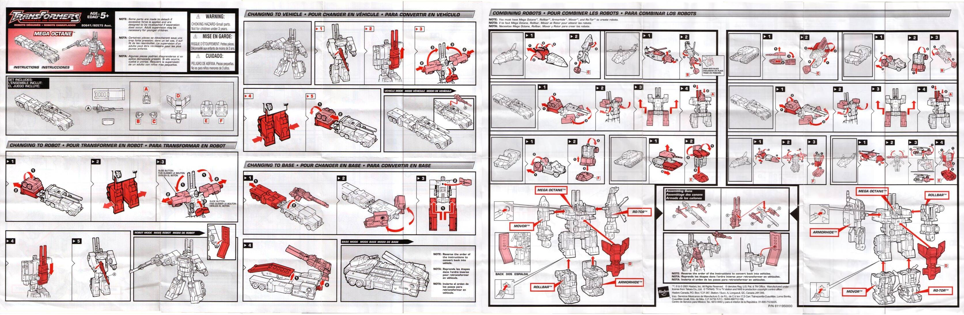 Robot In Disguise Instructions